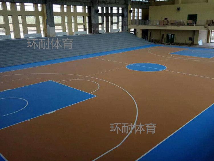 水性硅PU篮球场顺利完工-内蒙一小释放它、四小找女友、九中室内运动球场