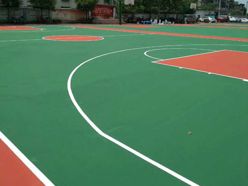 湖南学校丙烯酸球场硅PU球场